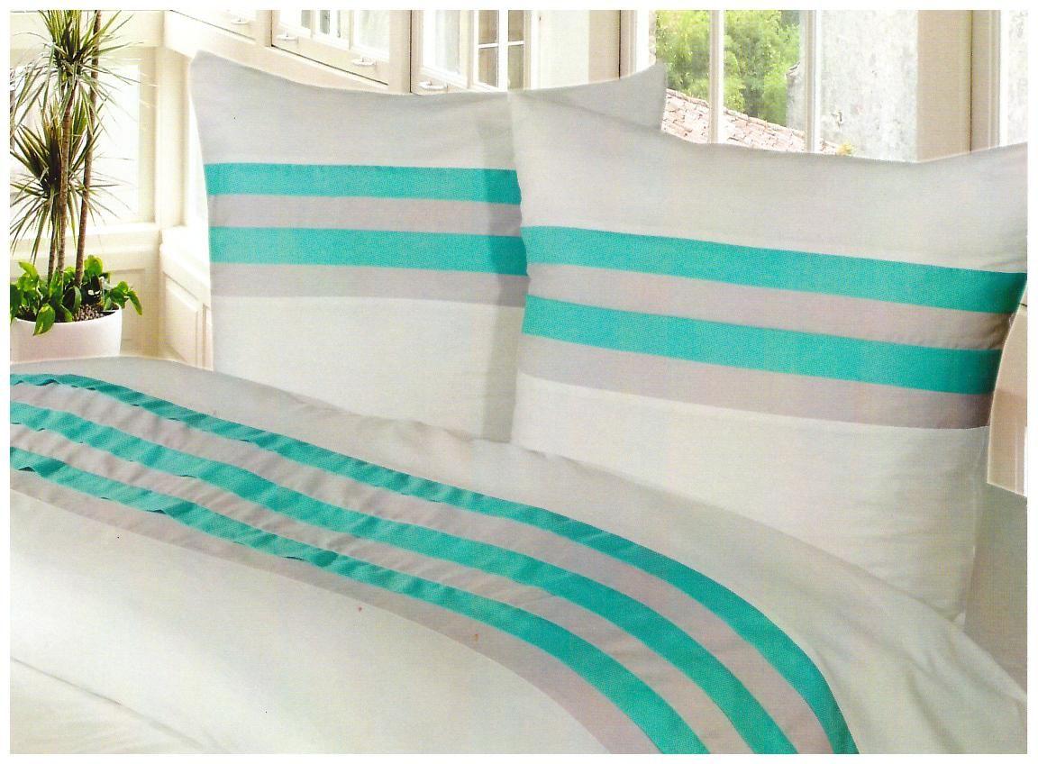 Housse de couette taupe et turquoise with housse de couette en lin indigo linge particulier - Turquoise kamer en taupe ...