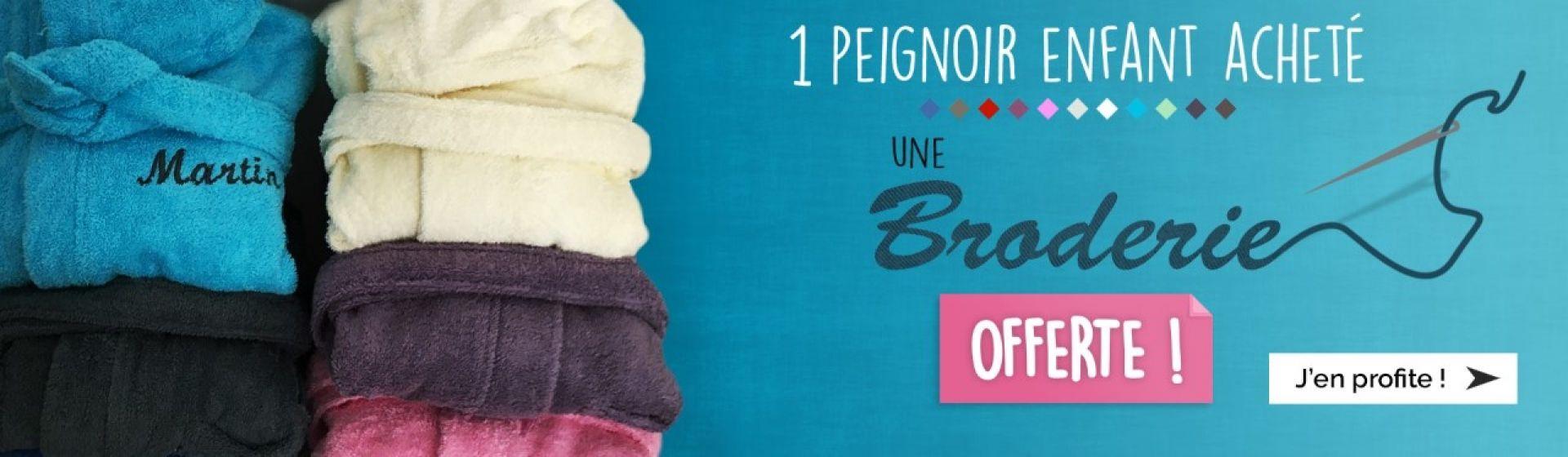 Spécial Noël - Peignoir enfant 100% coton + broderie offerte