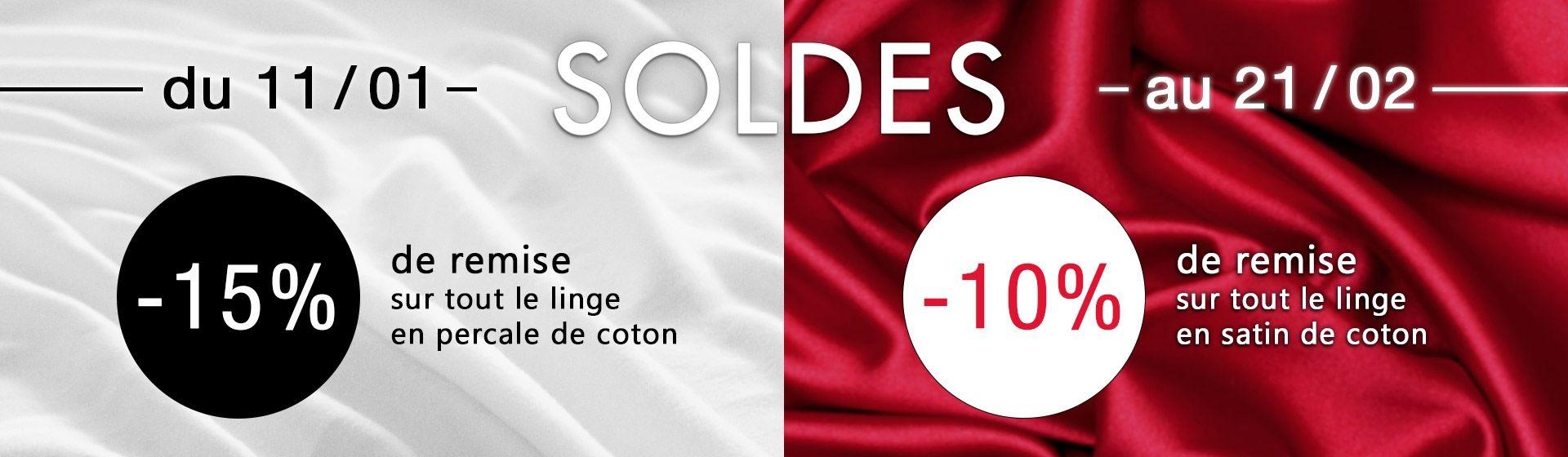 Soldes d'hiver : -15% de remise sur la percale de coton et -10% sur le satin de coton