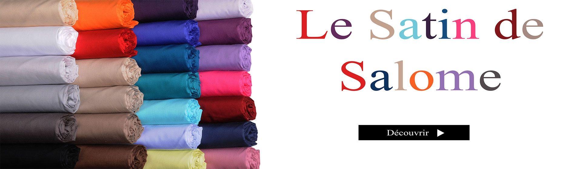Découvrez la collection de drap housse Salomé Prestige