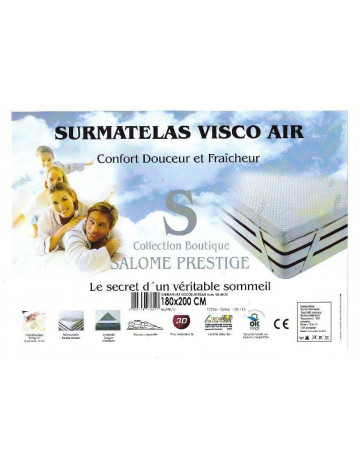 Surmatelas à mémoire de forme Visco Air