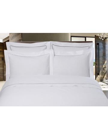 Duvet cover + 2 cotton percale pillowcases 80 threads cm² day white scale