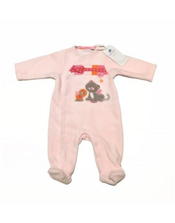 Pyjama velours rose Iris & Babette Noukie's 1- mois