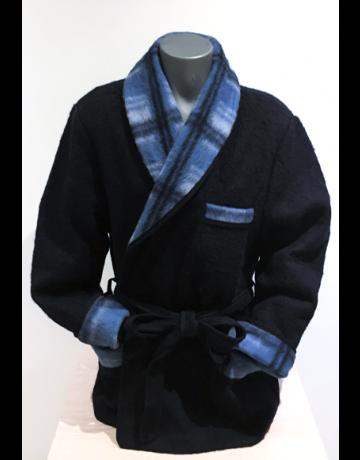 Robe de chambre ou veston bleue 100% laine des pyrénées
