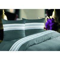 Lot de deux taies d'oreiller 50x70cm satin de coton 120 fils cm/² Martine