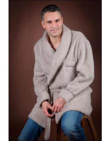 veston uni beige 100% laine des pyrénées