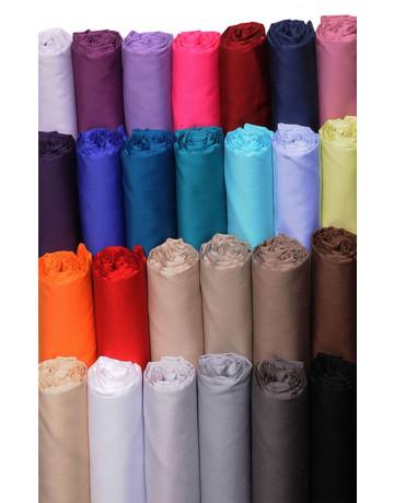 Drap housse uni satin de coton 120 fils / cm² Bonnet 30cm