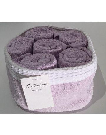 Kit serviettes invités lilas