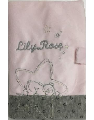 Protége Carnet de Santé Poudre étoile Rose Noukies