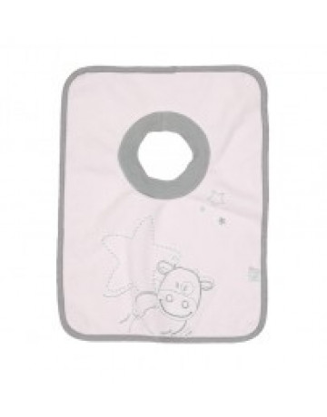 Bavoir maxi 6 mois + poudre d'étoile rose