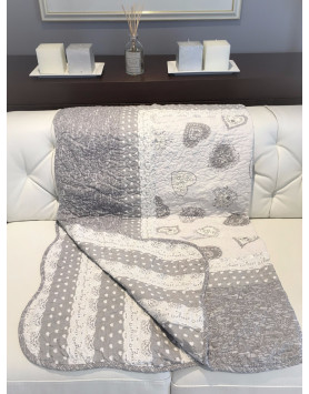 Plaid boutis 150x150 Frenchy gris