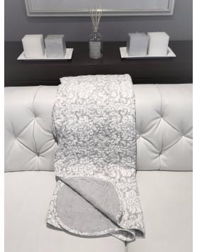 Plaid boutis délicat gris & lin 150x150