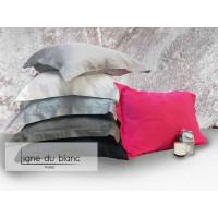 Lot of 2 plain cotton percale pillowcases 80fils / cm²