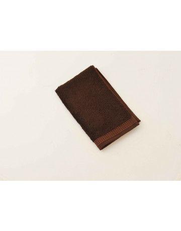 serviette d'invité modal chocolat