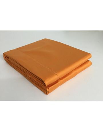 Drap plat uni satin de coton 120 fils / cm2 Salomé Prestige