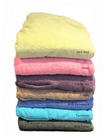 Paréo éponge coton peigné 550 g/m²
