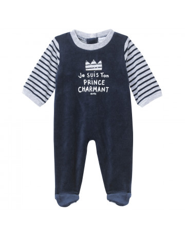 Pyjama velours marine prince charmant Absorba 23 mois
