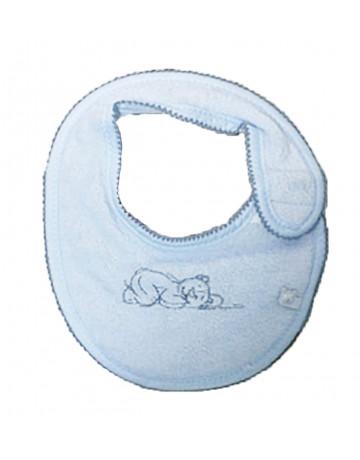 Bavoir Mini Poudre étoile Bleu Noukies