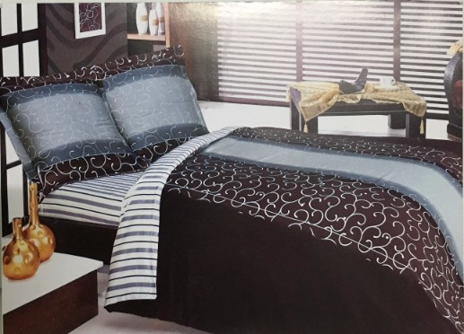 parure housse de couette satin de coton arabesque 220x240. Black Bedroom Furniture Sets. Home Design Ideas