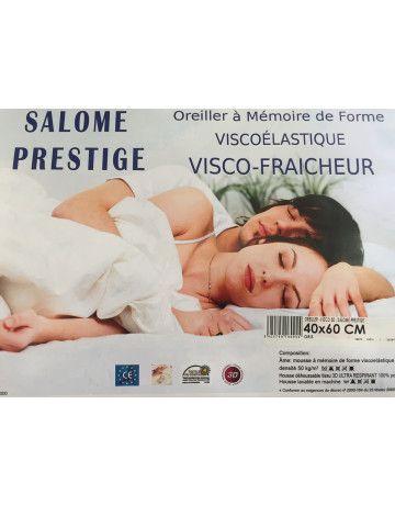 Oreiller à mémoire de forme viscoélastique visco-fraicheur Salomé Prestige