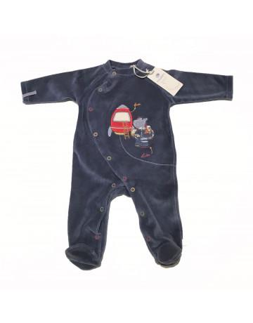 Pyjama velours bleu canard Paco espace Noukie's
